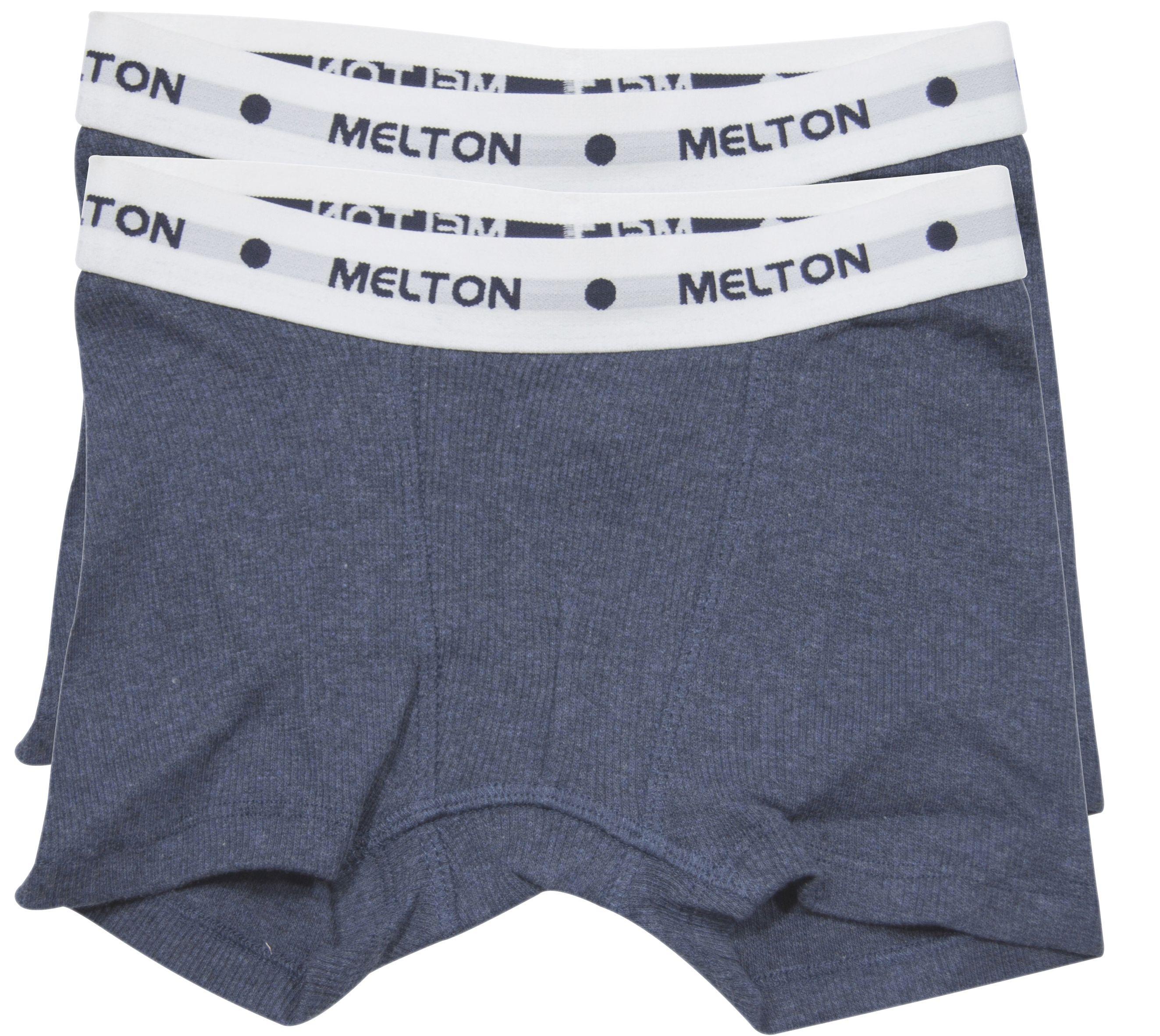 Image of Boxershorts fra Melton - Navy melange rib (2-pak) (800382-281)