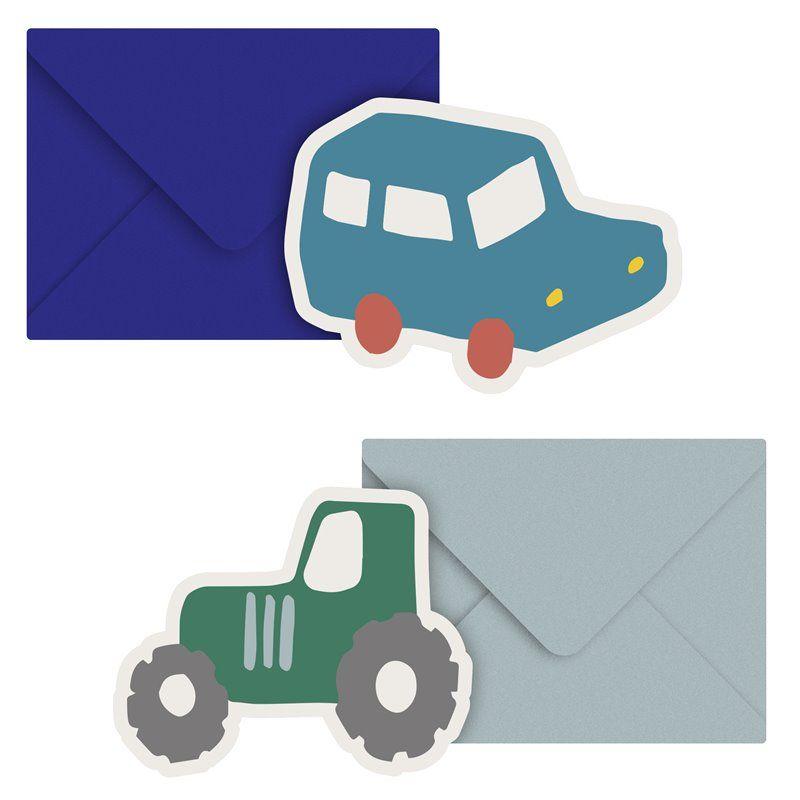 Kort med kuvert Fra Sebra -  Little Driver -  2 stk
