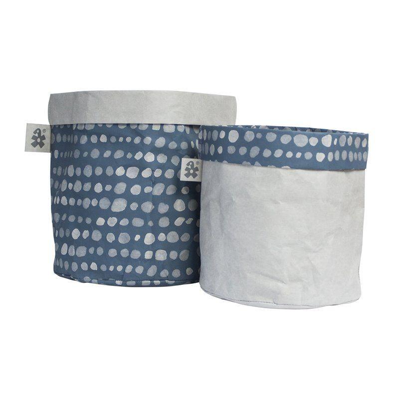 Opbevaringskurv fra Sebra - papir dots boy