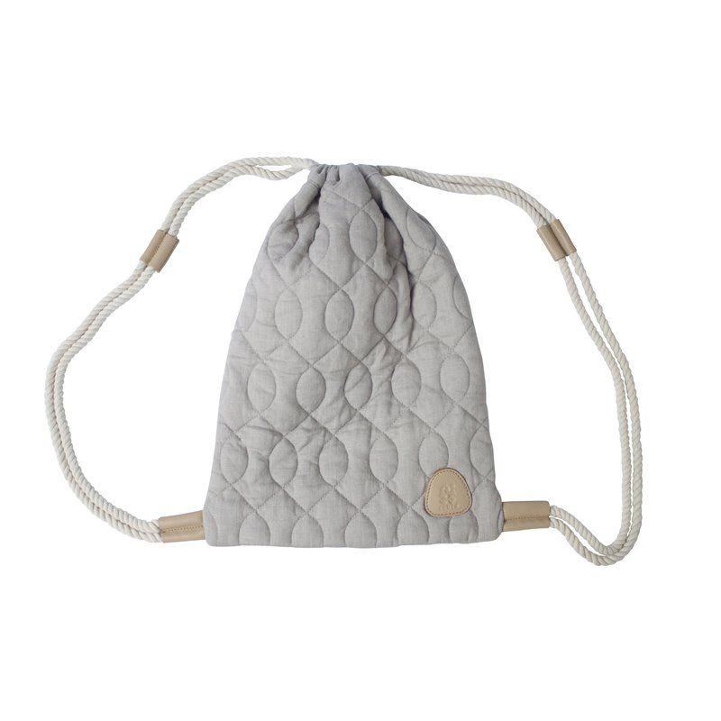 Image of Gymnastikpose fra Sebra -quiltet grå (8013301)