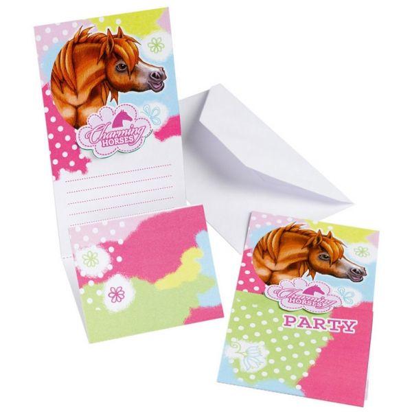 Invitation - Søde heste (6 stk)