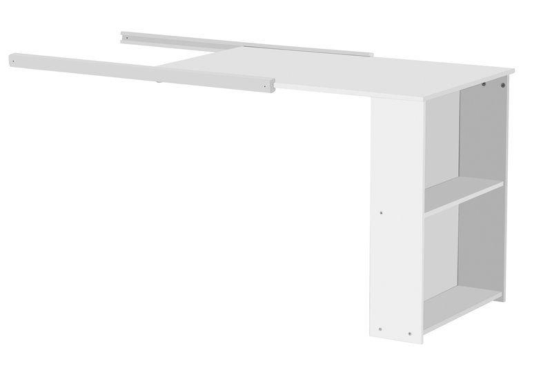 Skrivebord til Flexa halvhøjseng - hvid