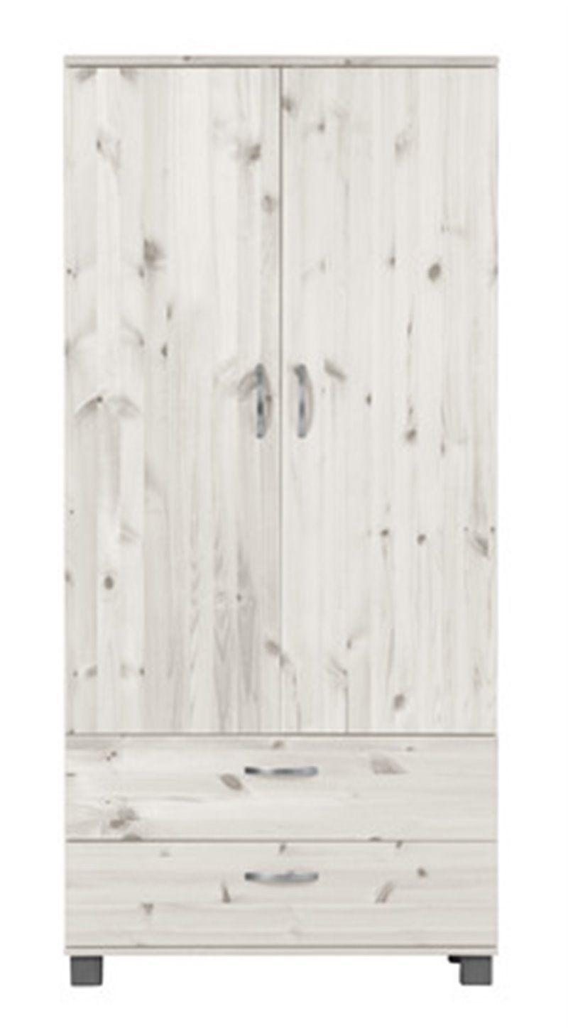 Garderobeskab med 2 skuffer fra Flexa - whitewash