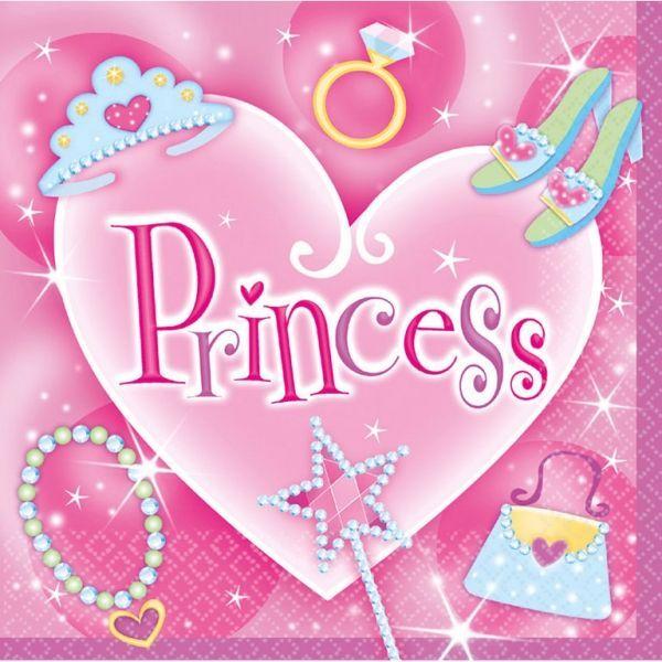 Image of Servietter - Princess (16 stk) (519754)