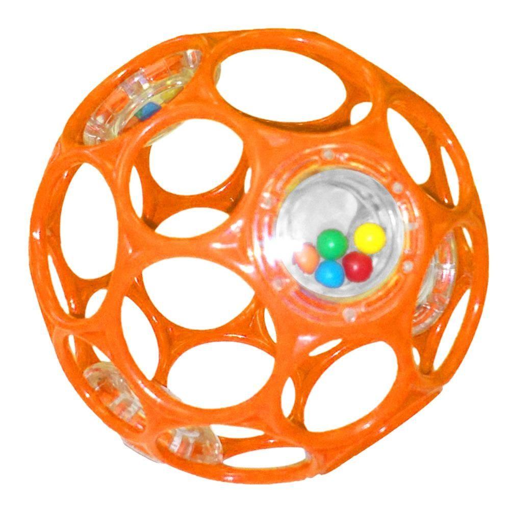 Image of Motorikbold der rasler fra Oball - OBall rattle - Orange (10 cm) (OB-11483_orange)