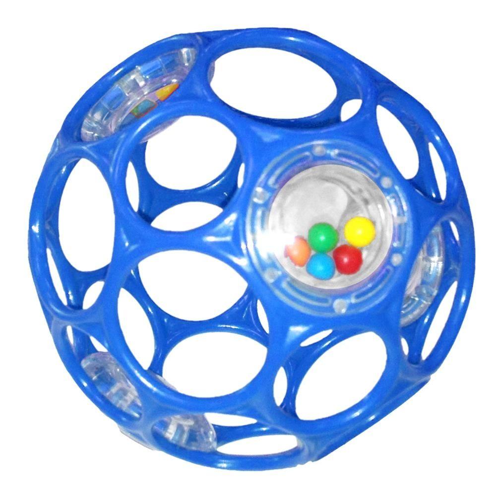 Image of Motorikbold der rasler fra Oball - OBall rattle - Blå (10 cm) (OB-11483_bla)