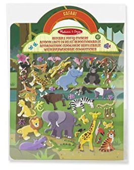 Image of Klistermærker fra Melissa & Doug - Reusable Puffy Stickers - Safari (19106)