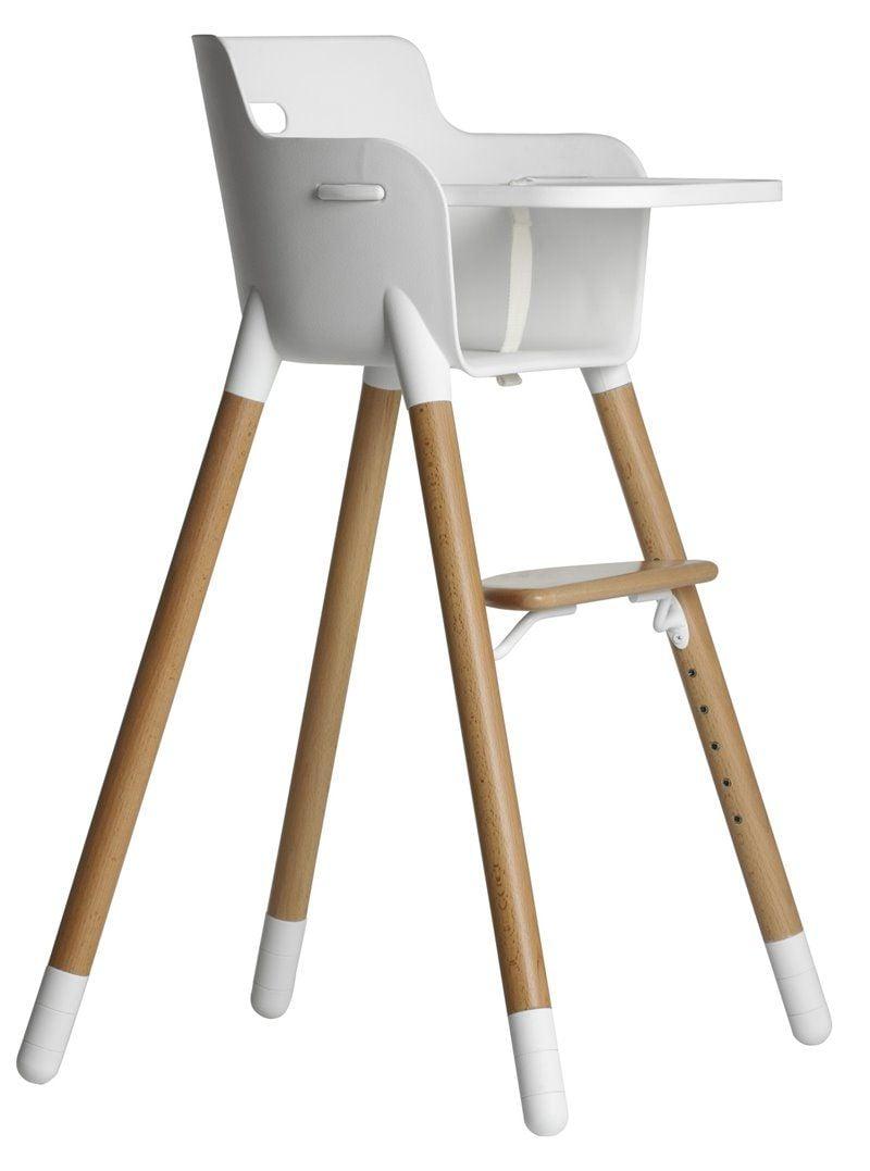 Image of Bakkebord med T-sele til højstol fra Flexa - Hvid (82-10024-2)