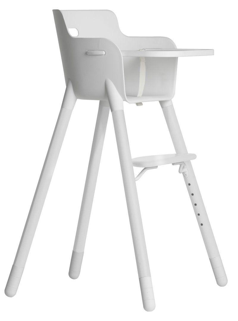 Image of   Højstol med Bakkebord fra Flexa - Hvid