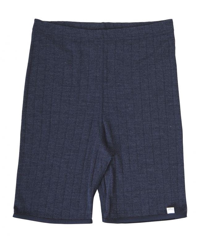 Image of Shorts i uld/silke - Joha dameuld - Emily / Marine (83325-185-413)