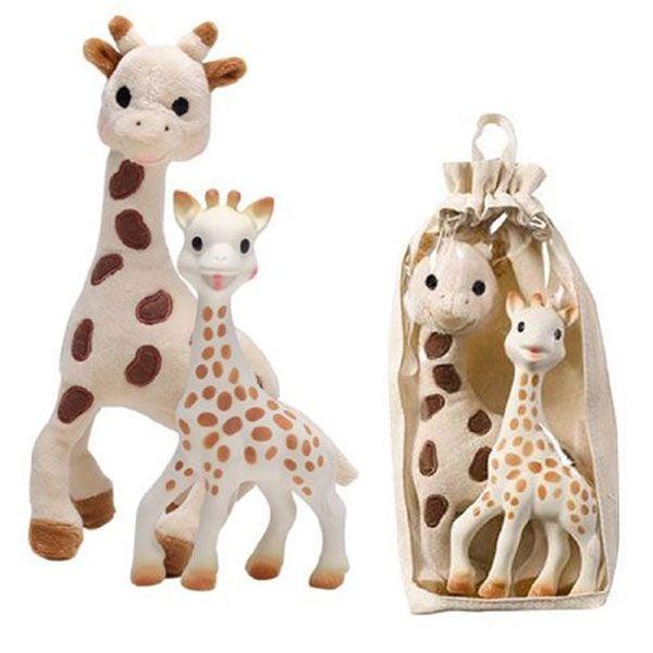 Gift bag fra sophie la giraffe - bidedyr og plysdyr fra Vulli fra babygear.dk
