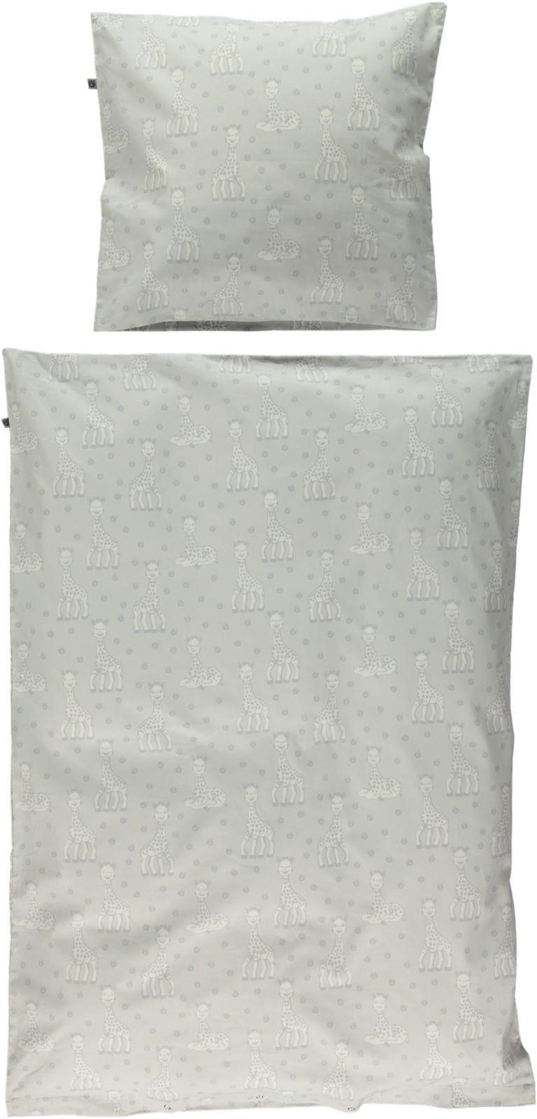 Sengetøj fra Småfolk og Sophie Giraf - Økologisk - Grey