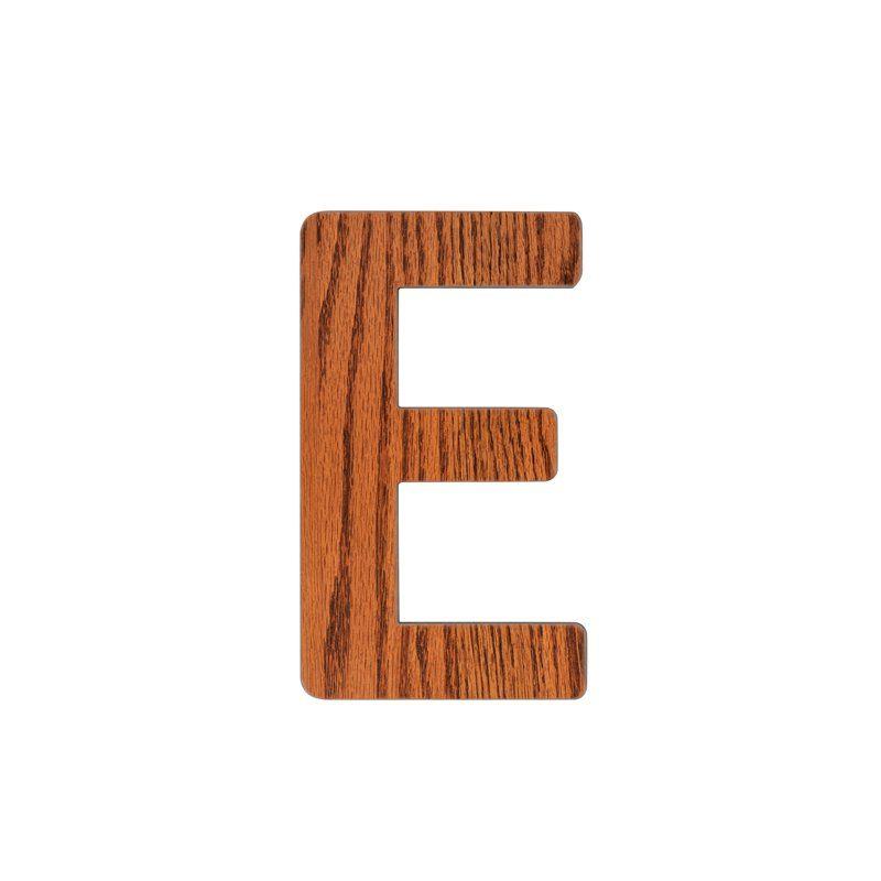 Image of   Bogstav, E fra Sebra - træ