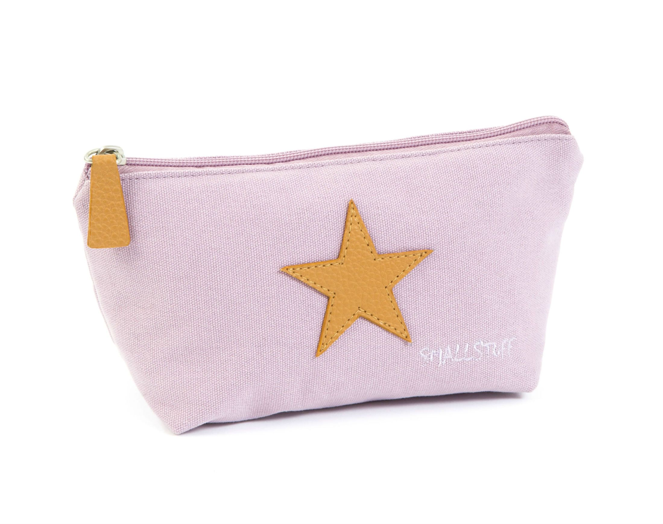 Toilettaske fra Smallstuff - Soft Rose Kanvas & Leather Star - Lille