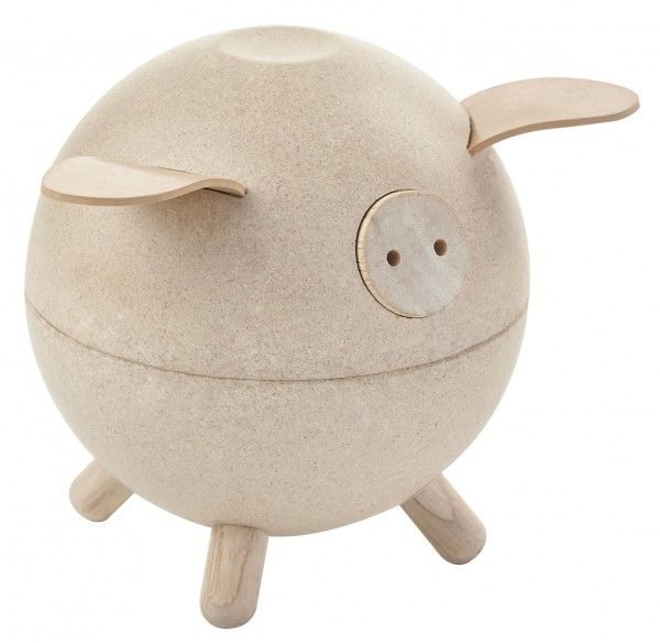 Image of   Sparegris fra Plantoys - Natur - Bæredygtigt legetøj