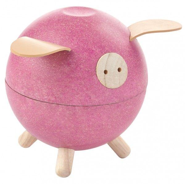 Image of Sparegris fra Plantoys - Rosa - Bæredygtigt legetøj (8612)