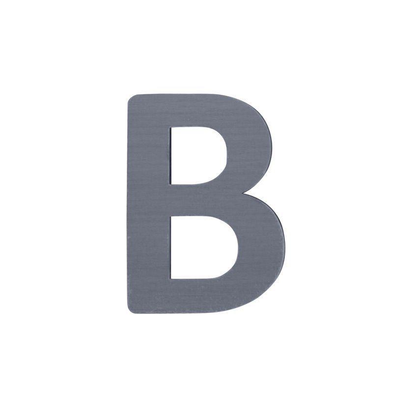 Image of   Bogstav, B fra Sebra - grå