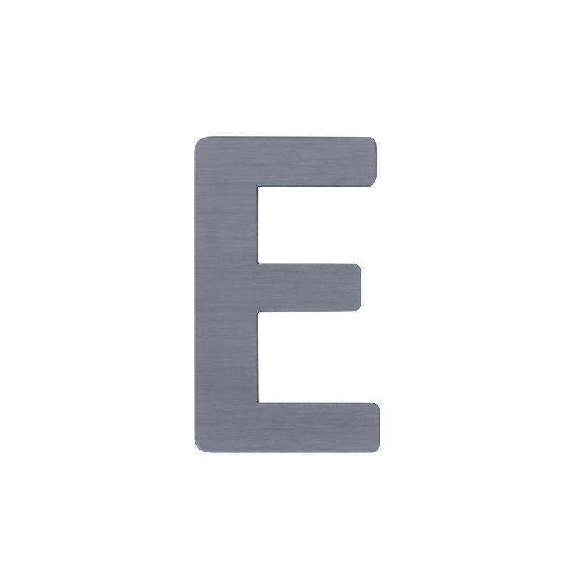 Image of   Bogstav, E fra Sebra - grå