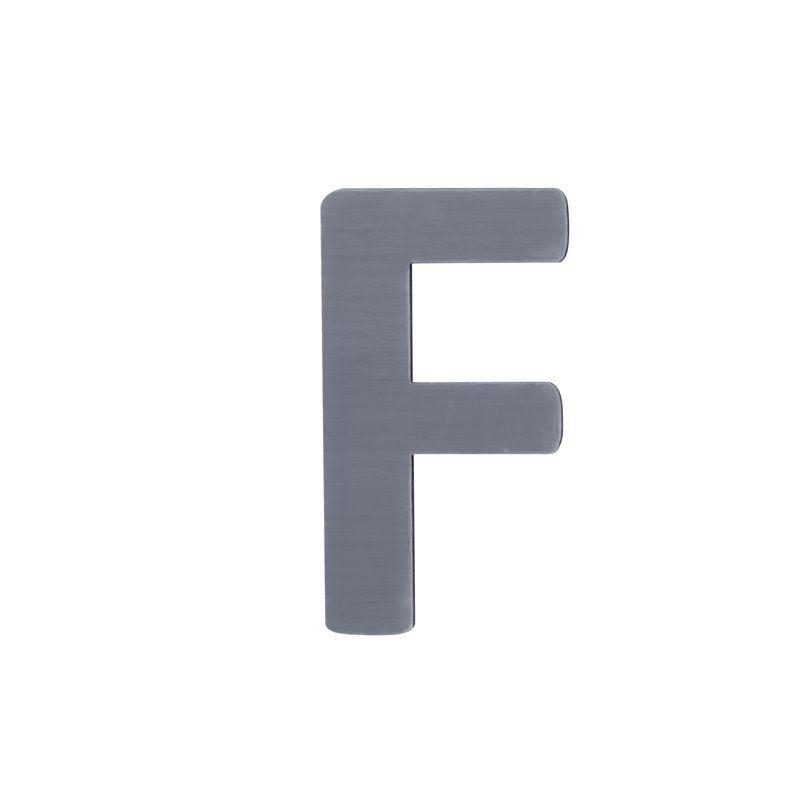 Image of   Bogstav, F fra Sebra - grå
