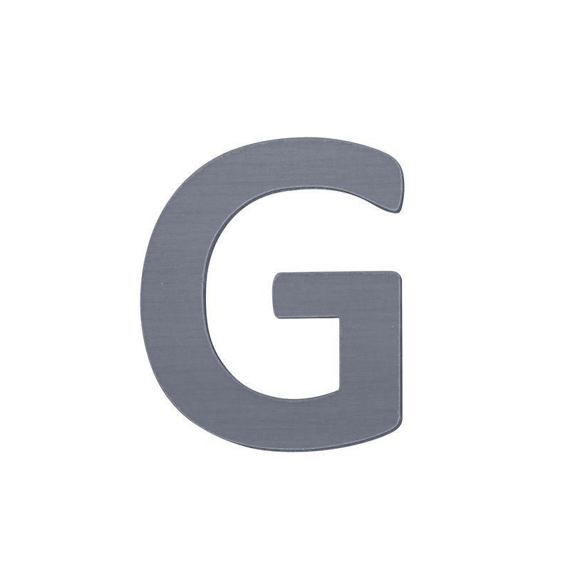 Image of   Bogstav, G fra Sebra - grå
