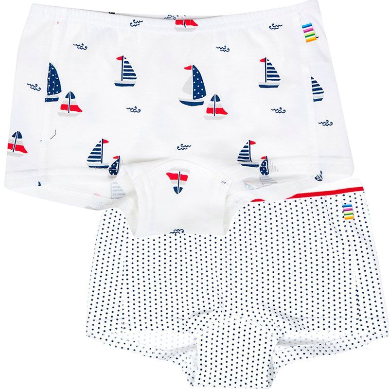 Image of   Hipsters fra Joha - Navy Dots/Boats (2 par)