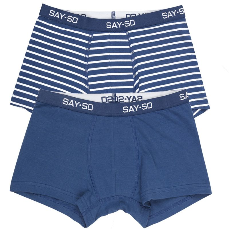 Image of   Boxershorts fra Say So by Joha - 2 par - Navy/Stripe + Navy