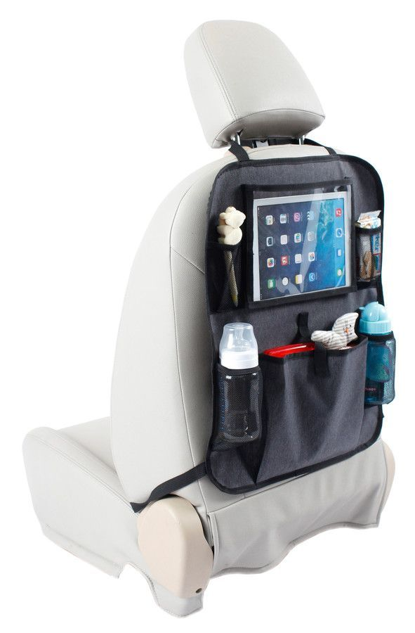 Image of Tablet Backseat Organiser fra Babydan - Grey melange (9000)