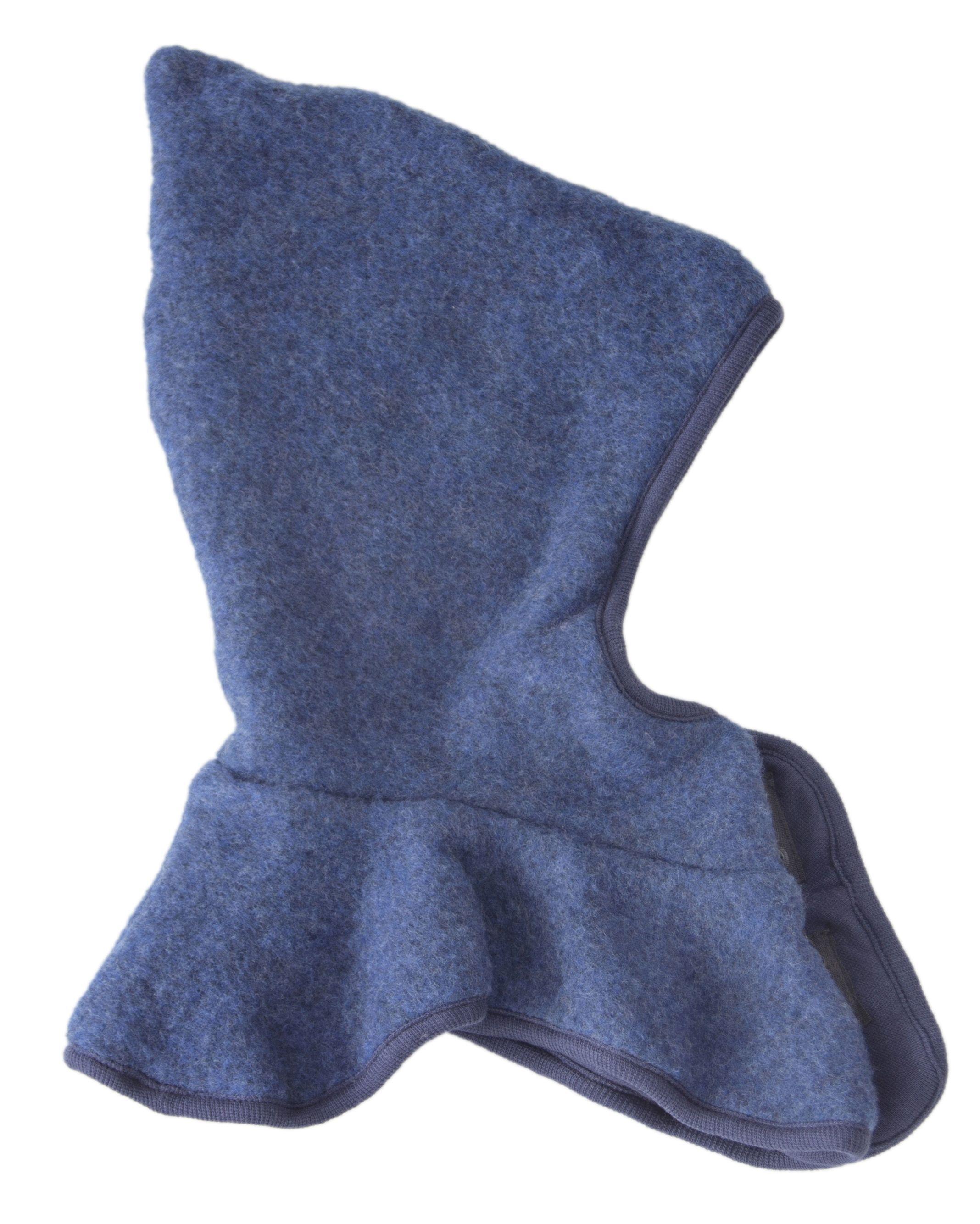 Image of   Elefanthue m. knapper fra Mikk-Line - Soft Wool - Blue Melange