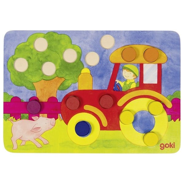 Image of Farvebingo fra Goki - Colour dice game - Classic (56705)
