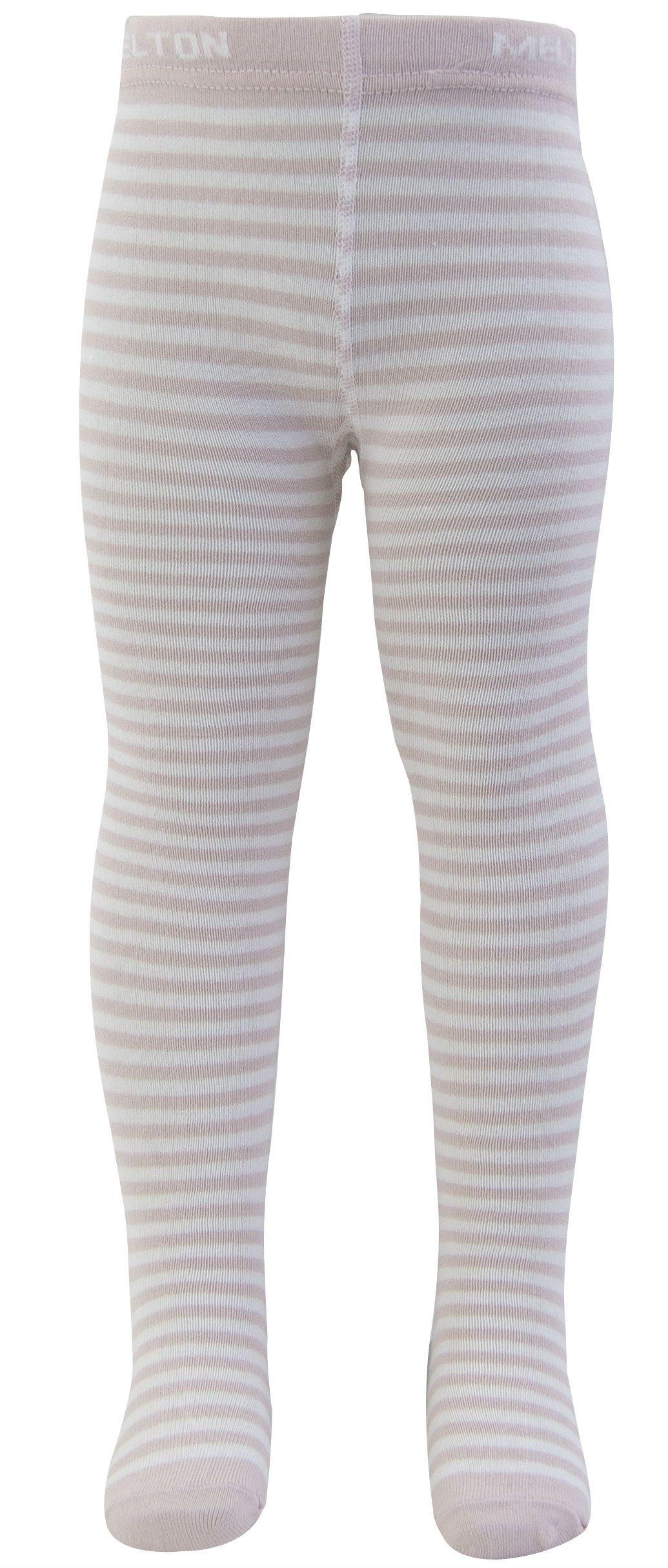 Strømpebukser fra Melton - Soft Rose stripes