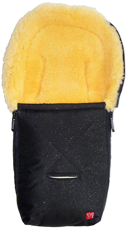 Image of   Baby kørepose m. lammeskind - Emma - Black Glitter