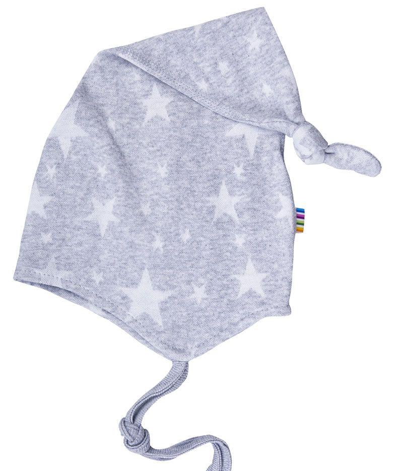 Image of Hue fra Joha - Dobbelt-lag - Grå melange m. stjerner (92070-712-6492)
