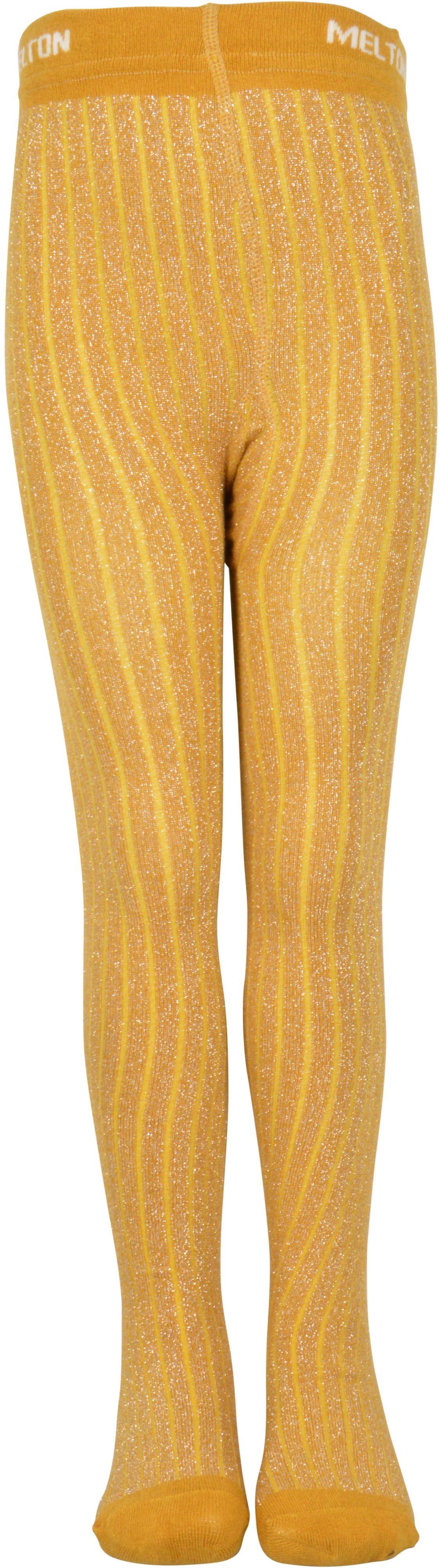 Image of Bambus glimmer strømpebukser fra Melton - Honey mustard (922001-636)