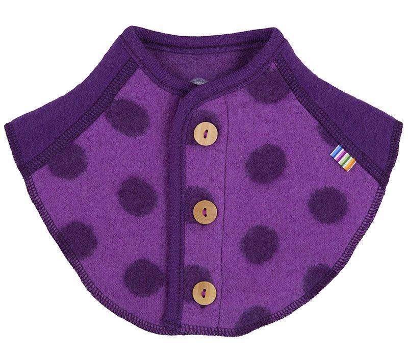 Billede af Halsedisse i Baby Uld (Soft Wool) fra Joha - Lilla m. Prikker