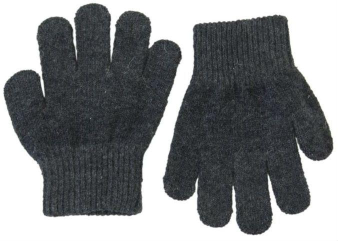 Image of Trylle fingervanter fra Mikk-Line - Uld-strik - Antracit (93002-189)