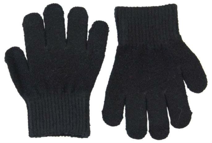 Image of Trylle fingervanter fra Mikk-Line - Uld-strik - Sort (93002-190)