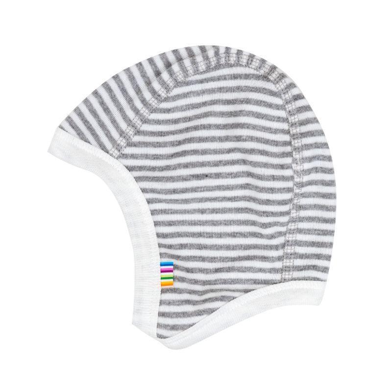 Hjelm m. knap fra joha - white/grey (økologisk) fra Joha fra babygear.dk