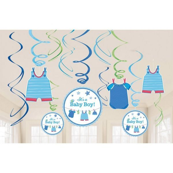 Image of Guirlander - Swirl Decorations - Its a Baby Boy (12 dele) (671491)
