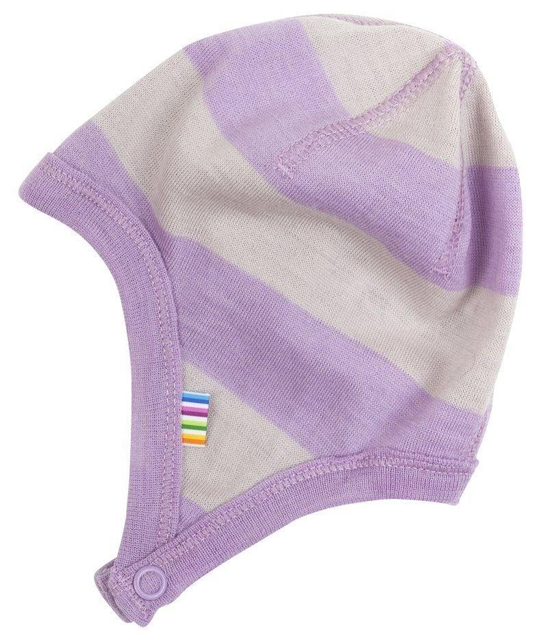 Image of   Hjelm fra Joha i uld - Wide Stripe Lavender