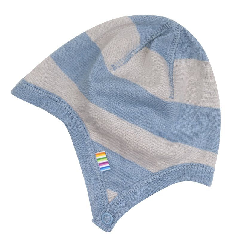 Image of   Hjelm fra Joha i uld - Wide Stripe Blue