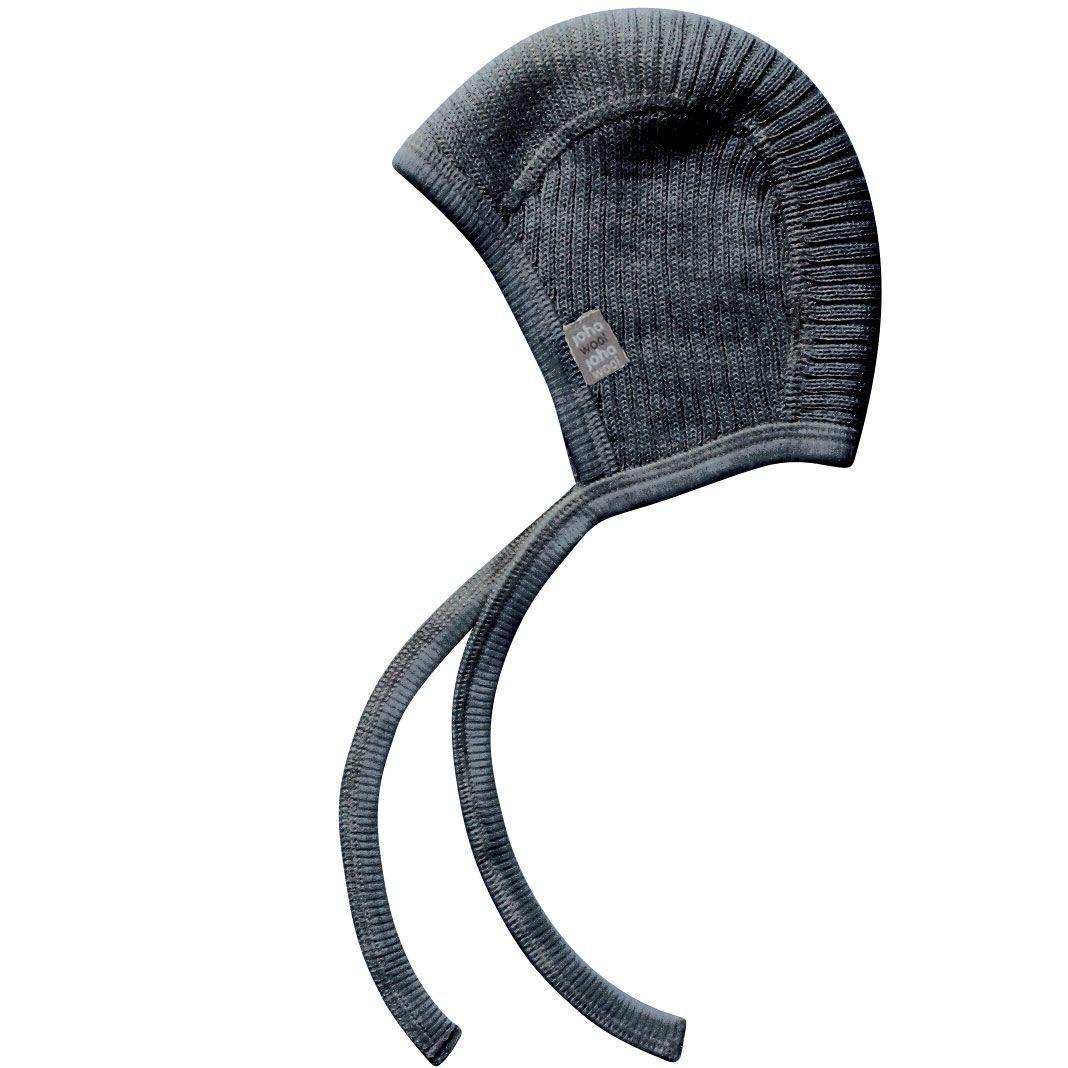 Image of   Baby hjelm i Uld Strik fra Joha - Koksgrå