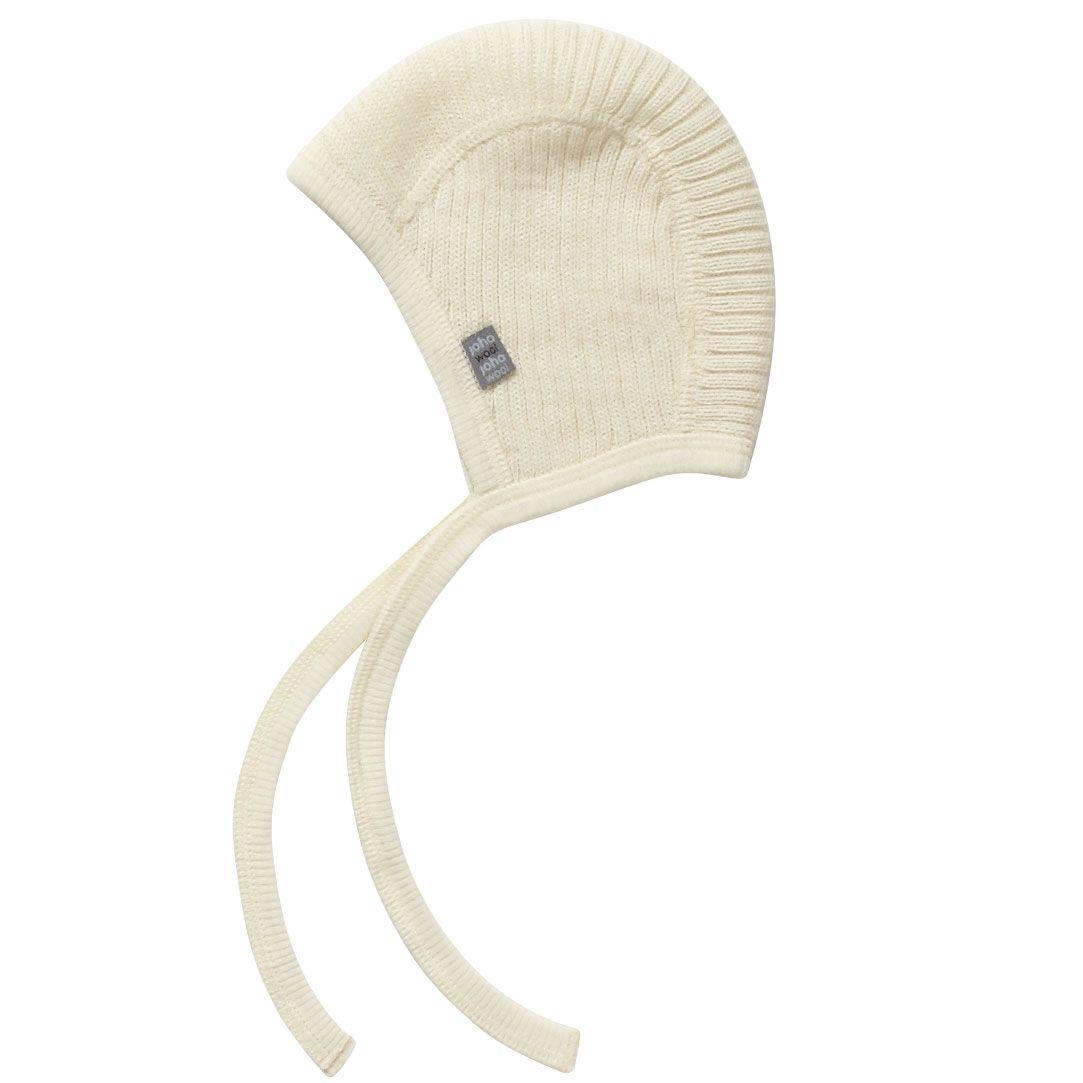 Baby hjelm i uld strik fra joha - natur fra Joha på babygear.dk