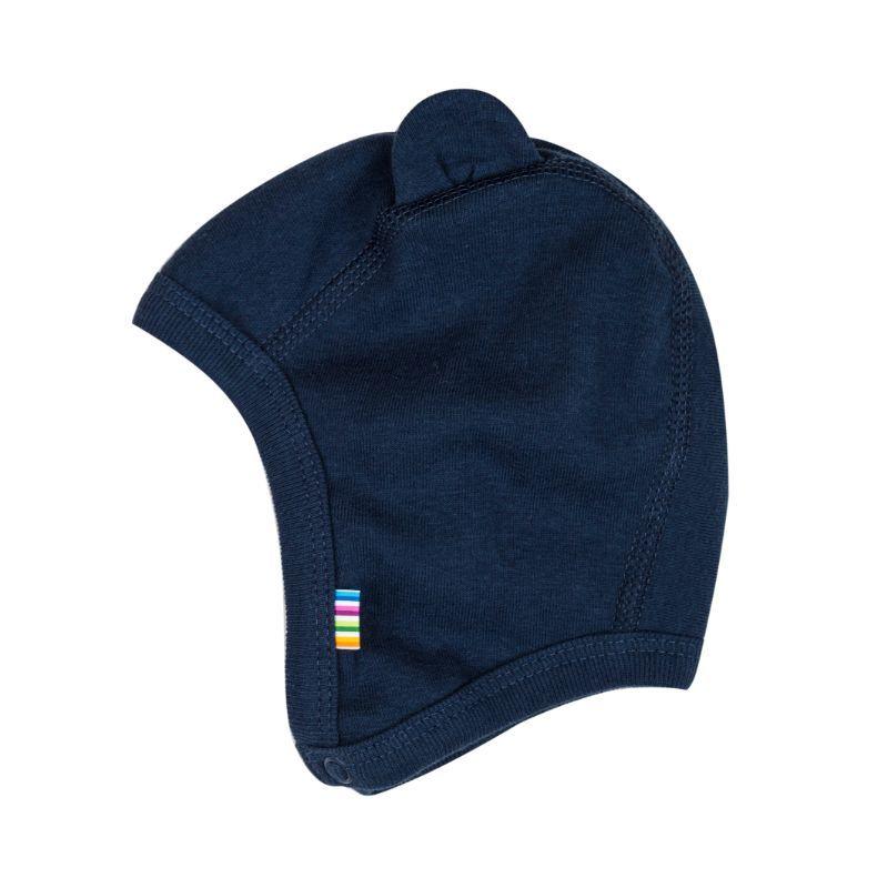 Joha – Baby hue m. ører og knaplukning fra joha - navy på babygear.dk