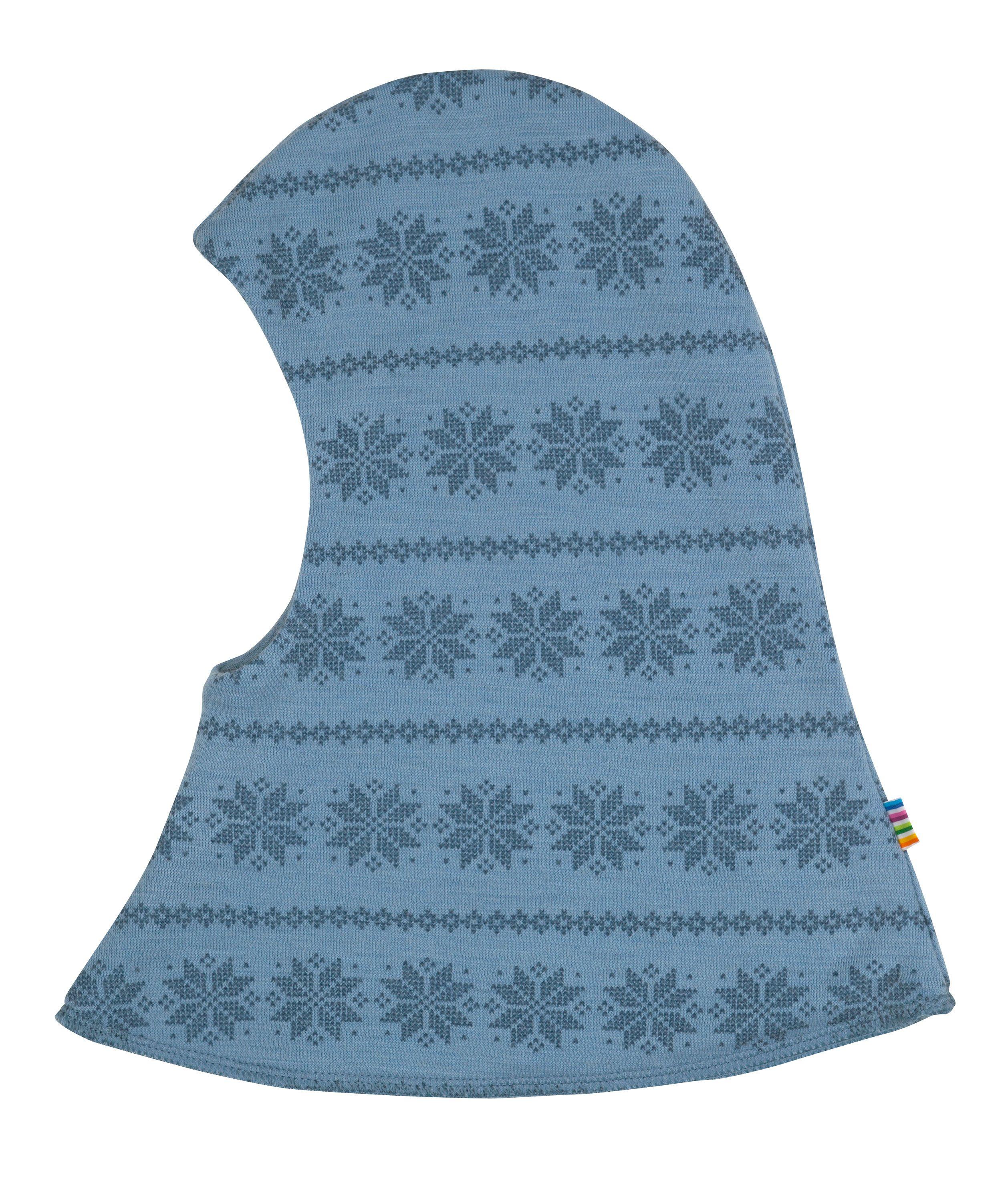 Elefanthue dobbelt fra Joha i uld m. Blue Snowflake