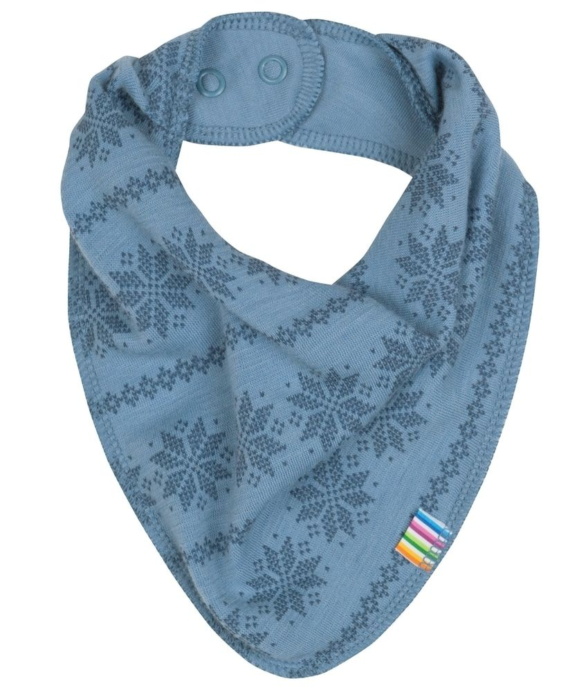 Image of Savlesmæk fra Joha i uld m. Blue Snowflake (97323-246-3083)