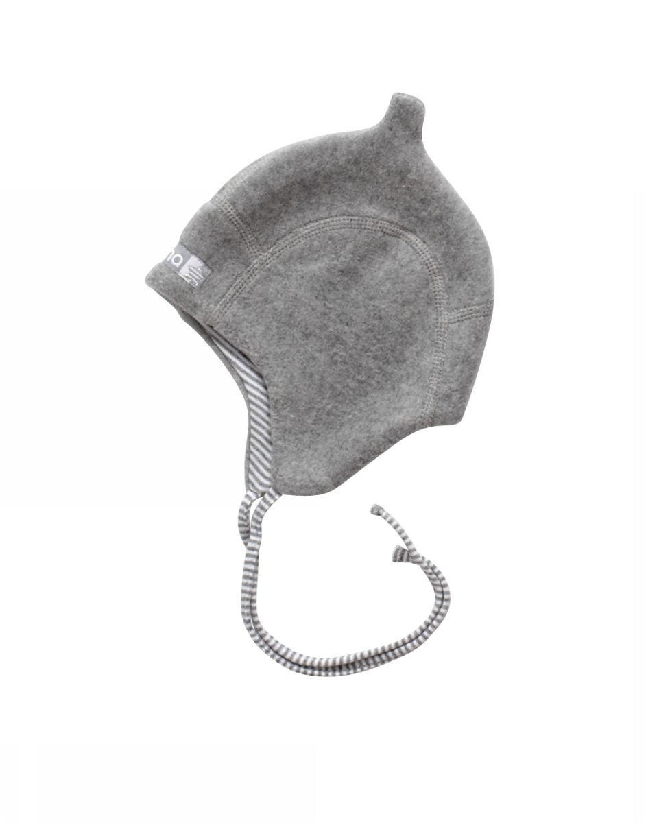Image of   Hjelm i vamset bomuld fra Joha - Dobbelt lag - Grå