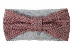 Pandebånd m. sløjfe i uld fra MP i rose grey