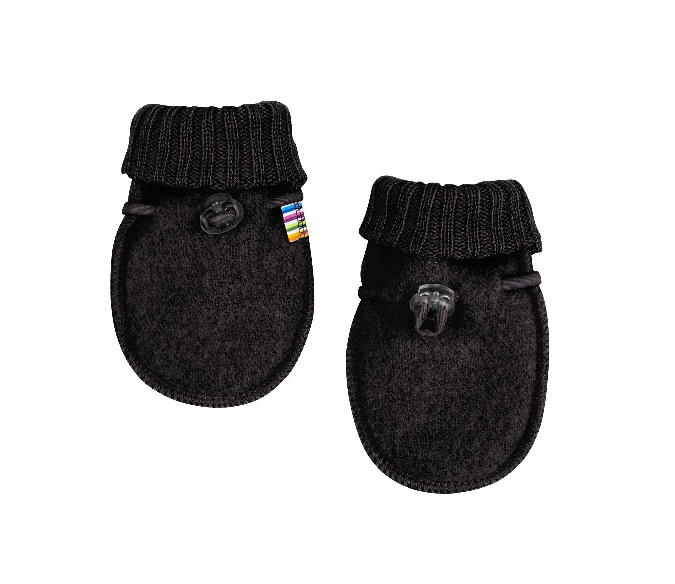 Image of   Baby Luffer fra Joha i soft wool i sort
