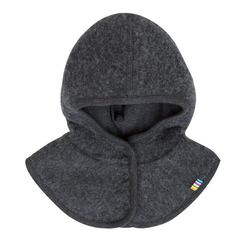 Image of   Elefanthue i Soft Wool fra Joha - Windstop og knapper - Koksgrå