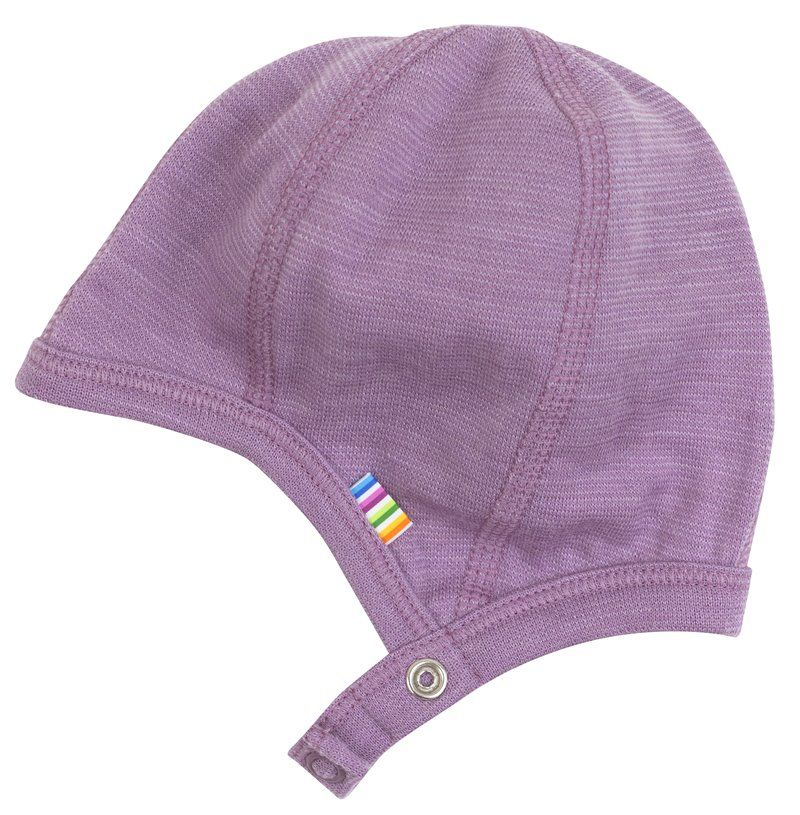 Image of   Hjelm med trykknap fra Joha i uld - Melange Lavender